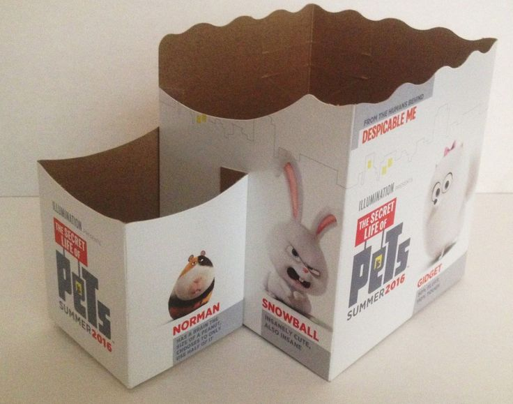Secret Life of Pets Movie Theater Exclusive Cup Topper Set 2 12 Oz | eBay