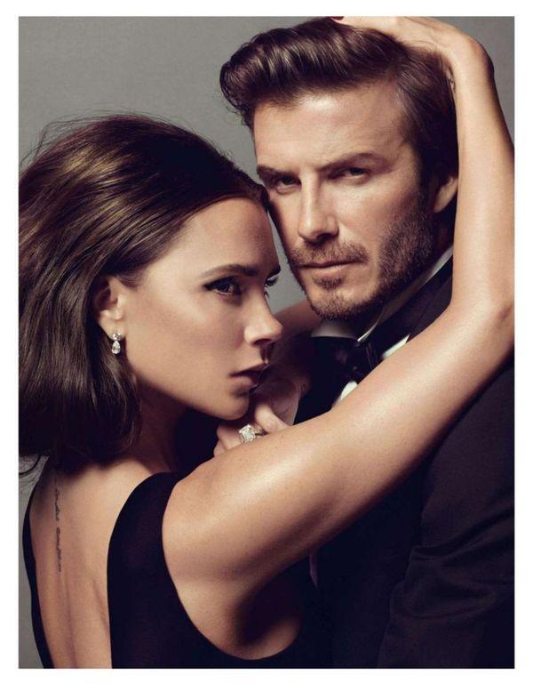 Victoria and David Beckham Steam Up Vogue Paris January 2014 #Endorsement #Celebrity trendhunter.com