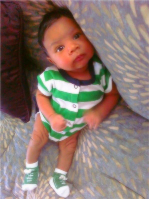Awww I love babies!! Blasian baby :)