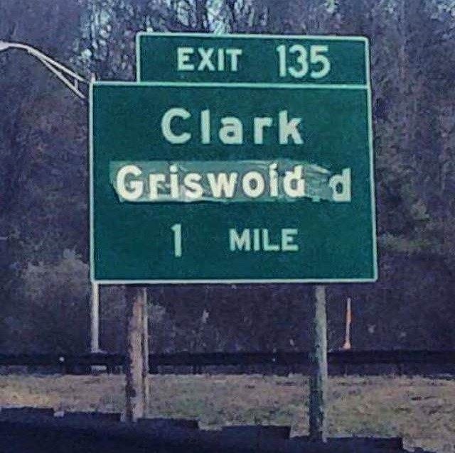 """At least one """"Christmas Vacation"""" fan was driving on New Jersey's Garden State Parkway Thursday."""