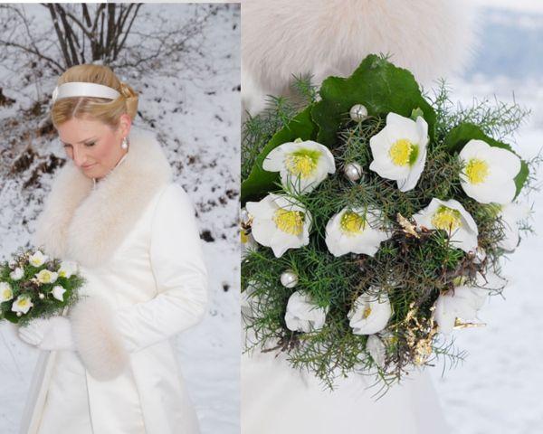 Ein Strauß aus Christrosen ist allein der Winterbraut vorbehalten ...