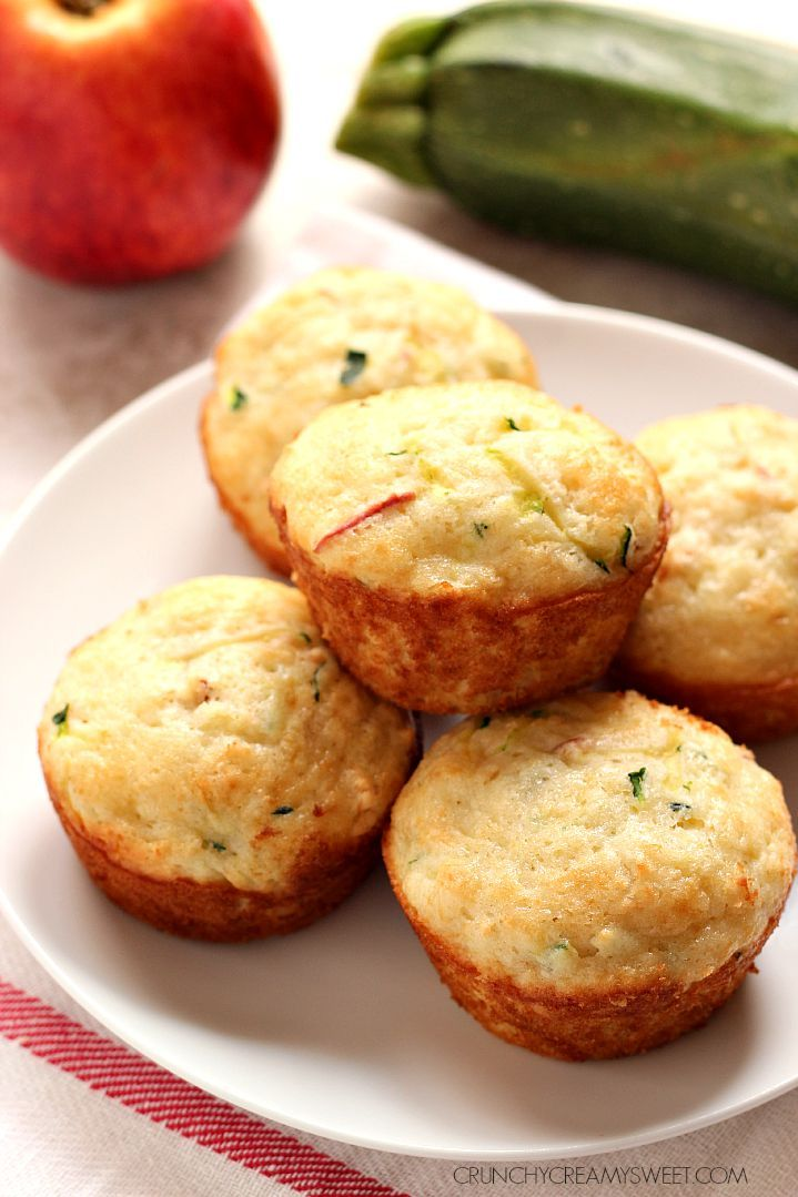 Apple Zucchini Muffins - soft and fluffy muffins with zucchini and apple. Perfect for lunch boxes or as an after-school snack!