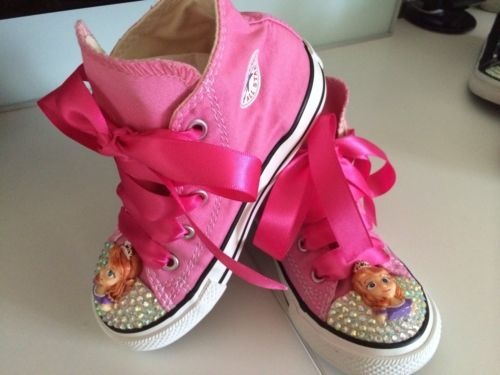 Customised Sophia The first Crystal Bling Converse All Star