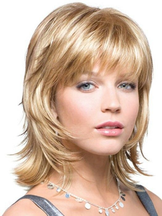 Short Layers With Bangs