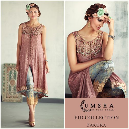 The Buds & Blossoms Eid Collection 2015 Umsha by Uzma Babar