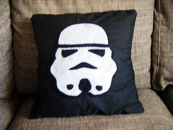 Star Wars Stormtrooper Face Cushion Pillow Geek by TheComfyGeek, $26.00