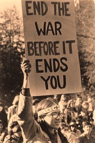 """Woodstock 1969. [I was a small child at this time, but I was still against the war...and I was against the terrible way the soldiers returning home were treated. Like in any war (or """"conflict"""" HA!), the soldiers were simply pawns of the machine - someone's son, husband, father...]"""
