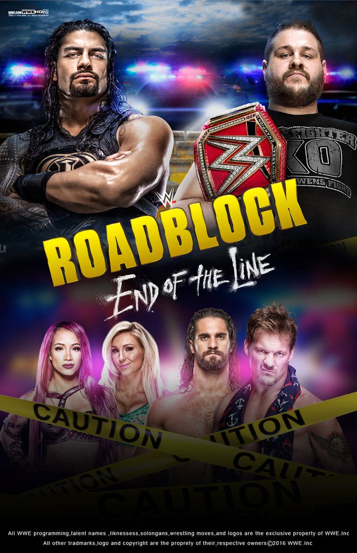 Wwe roadblock end of the line 2016 poster by edaba7 deviantart com on