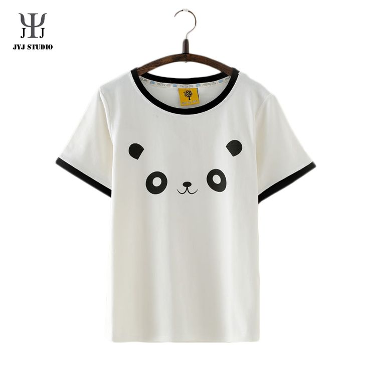 Aliexpress.com : Buy Summer Casual Loose Blouses For Women Short Sleeve O Neck Cotton Shirt With Cartoon Panda Pattern Cute Sweet Blouses from Reliable shirt white suppliers on JYJ STUDIO