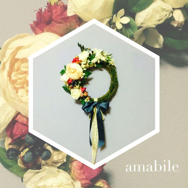 Wedding gift. Flower werath. Handmade. Amabile.