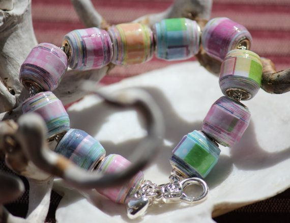 Pleased as Plaid - Travel Paper Bead Bracelet