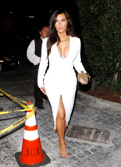 The 25  best Kim kardashian white dress ideas on Pinterest | Kim ...