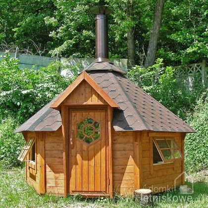 Drewniany domek grillowy (Barbeque / Grill wooden house) 9,3 m2