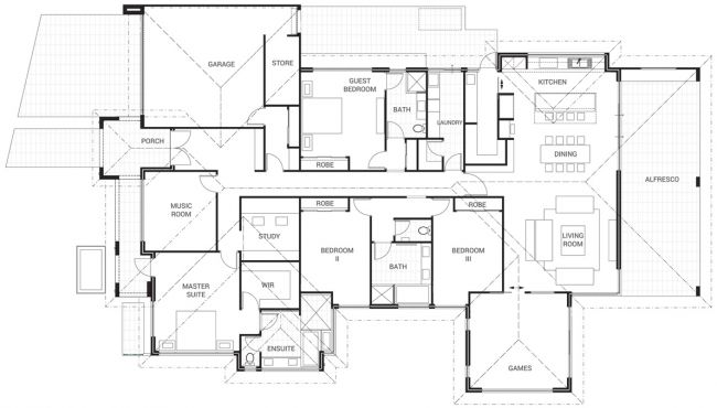 Floor Plan Friday: Family Living Treat With Scullery