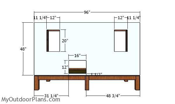 4x8 Backyard Chicken Coop Plans   MyOutdoorPlans   Free ...