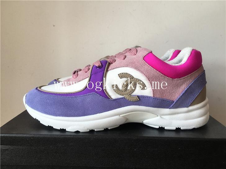 Chanel CC Tennis Trainer Sneaker Purple