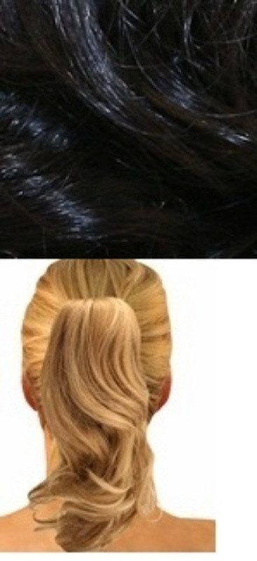 CLIP ON PONY CLIP ON PONYTAIL BLACK