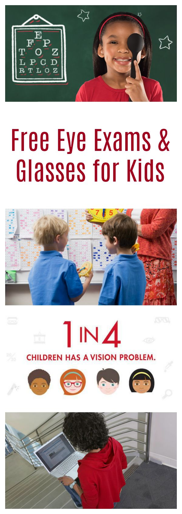 See how to apply for Free Eye Exams and Glasses for Kids in Need with the Let's Go See program from Visionworks! AD