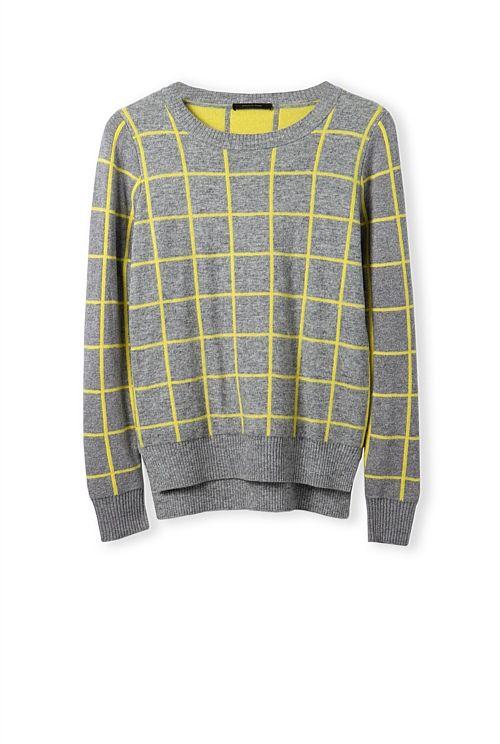 Grid Jacquard Knit