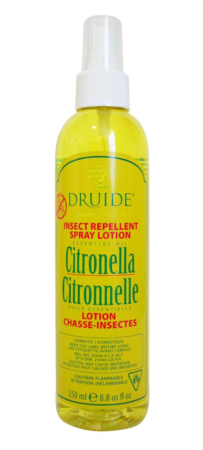 RETOUR DES CHASSE-INSECTES NATURELS DRUIDE® À LA CITRONNELLE EN 2015 - Boutique Druide