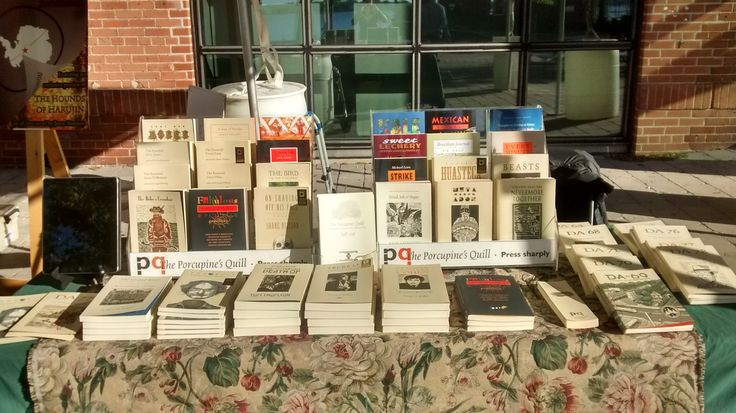 Nothing like the effect of early morning sunlight on our book table at Word on the Street Toronto. Harbourfront Centre, September 25, 2016.