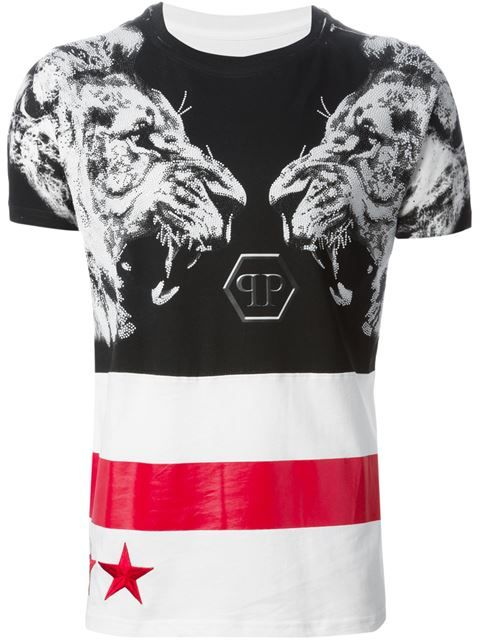 Shop Philipp Plein 'Perfect World' T-shirt in Verso from the world's best…
