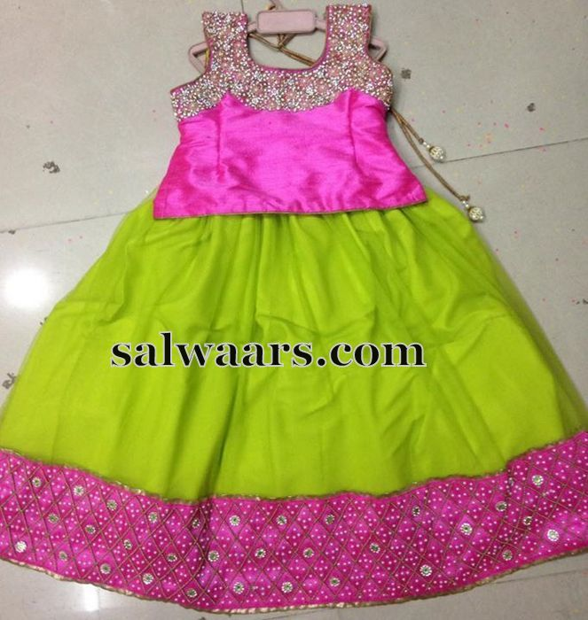 Light green Mirror Work Lehenga - Indian Dresses