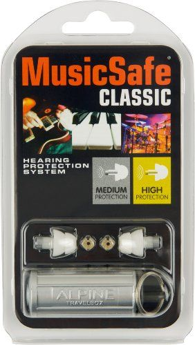 Alpine Hearing Protection MusicSafe Classic Earplugs ... I wear them at all concerts until the encore.