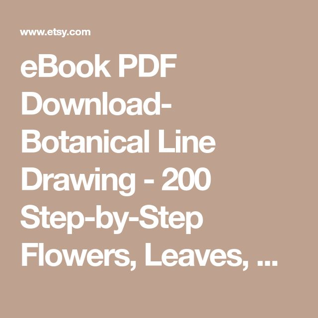 Best 25 botanical line drawing ideas on pinterest drawing ebook pdf download botanical line drawing 200 step by step flowers fandeluxe Choice Image