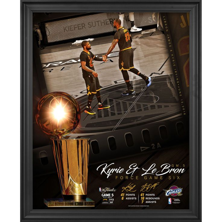 """LeBron James Cleveland Cavaliers Fanatics Authentic Framed 16"""" x 20"""" NBA Finals Game 5 Performances Moments Collage - $79.99"""