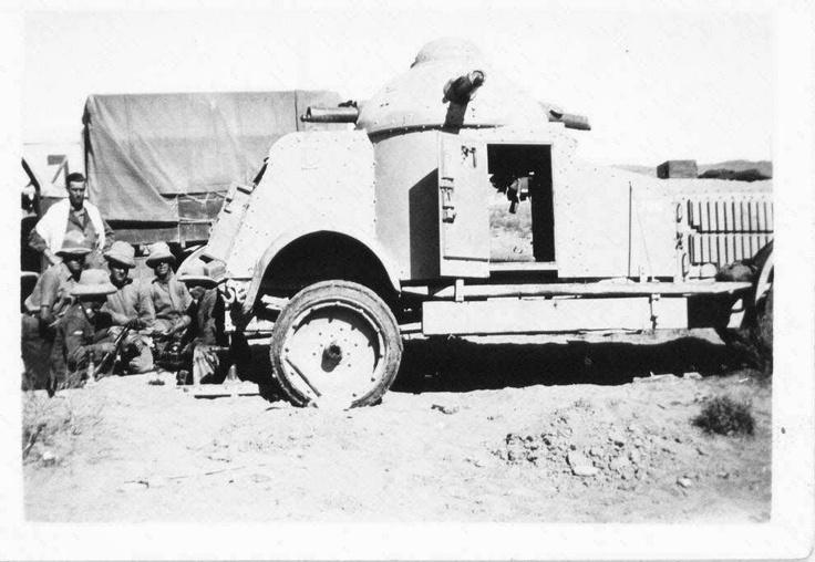 Jack Warner, North West Frontier, late 1920s (Crossley Armoured Car)
