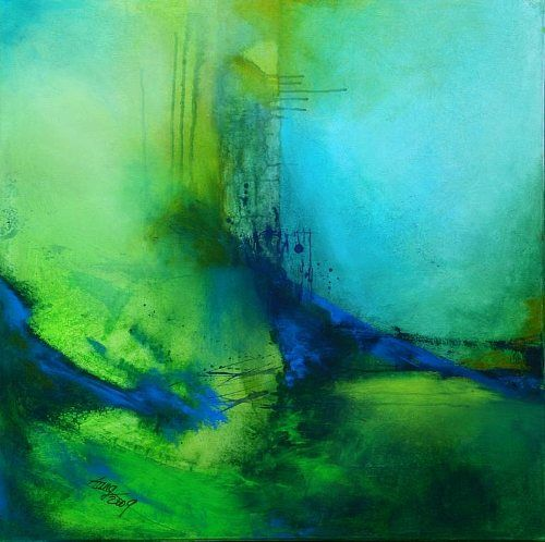 """Agnes Lang, """"Mai-Impressionen lV"""" Mit einem Klick auf 'Als Kunstkarte versenden' versenden Sie kostenlos dieses Werk Ihren Freunden und Bekannten."""