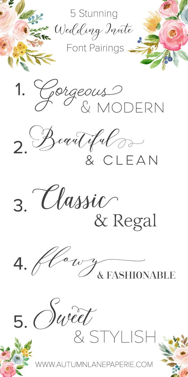 Wedding season is upon us!  I'm a total font junkie, too -- I love a good wedding invite with beautiful fonts.  Here are a few of my favorite pairings...which work well for logos, too!  ;) https://autumnlanepaperie.com/font-crush-time/  Wedding Invitations - Wedding Inspiration - Event Invitation - Save the Date - Logo Design - Graphic Design - Feminine Fonts - Typography - Font - Font Design