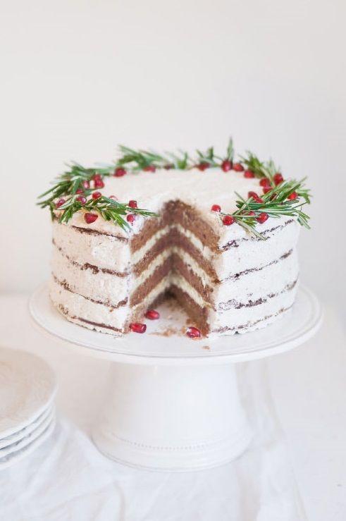 ... gingerbread christmas wreath cake (gluten-free, vegan, nut-free) ...