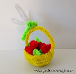 VIDEO TUTORIAL IS AVAILABLE FOR PIPE CLEANER BASKET WITH STRAWBERRIES, tutorial available