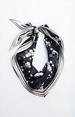 daisy-print silk neckerchief | J.Jill