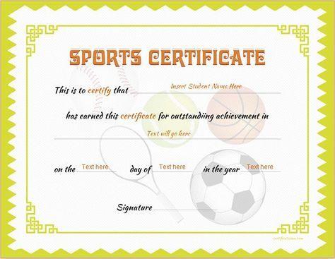 Best 25 certificate templates for word ideas on pinterest sports certificate template for ms word download at httpcertificatesinn yadclub Images