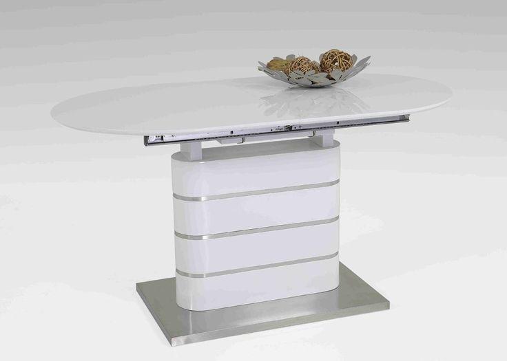 Esstisch Ausziehbar Amelie 140x80 Sulentisch Hochglanz Weiss 1409 Buy Now At