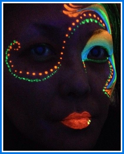 10 Best Images About Glow In The Dark Makeup On Pinterest | Glow Kelly Rowland And Make Up