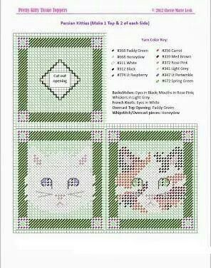 Pretty kitty tissue box cover 3/3