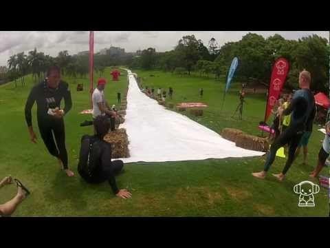 World Record Fastest 280m Slip 'n' Slide - YouTube