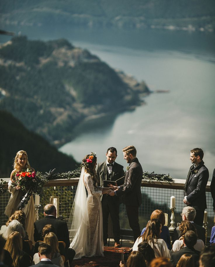 "placestosayido: ""Sea to Sky Gondola in Squamish, BC // Shari + Mike Photography via Green Wedding Shoes """