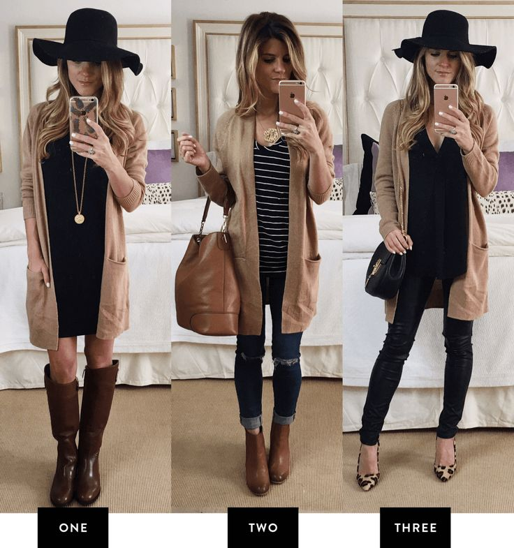 How to Make the Most of the #NSALE 2016 // Nordstrom Anniversary Sale 2016 - 6 Picks styled 3 different ways // Pick 5: Long Tan cardigan styled 3 different ways // 3 fall outfits with a long camel cardigan