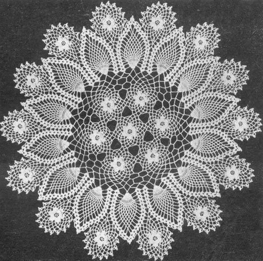 1953 Rose and Pineapple Doily Vintage Crochet Pattern PDF 195 $3.75