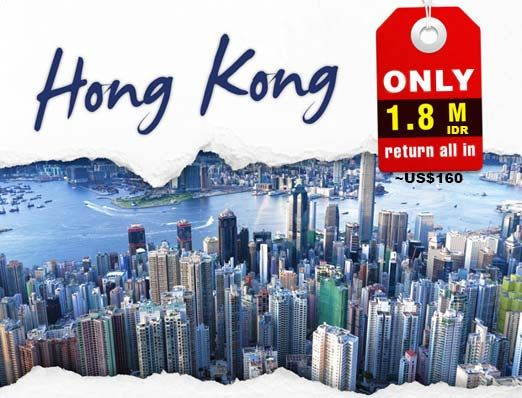 return trip to Hong Kong only 1,8 mio rupiahs  click this link for more info http://www.nusatrip.com/id/promo/tiket-murah-hong-kong-november-desember-2013   #NusaTrip #tiketpesawat #Hotel #onlinetravelagency #tiketpesawatpromo #hotelpromo #tiketmurah #hotelmurah #onlinebooking #promo #diskon #Jakarta #HongKong #mandala #tigerairways