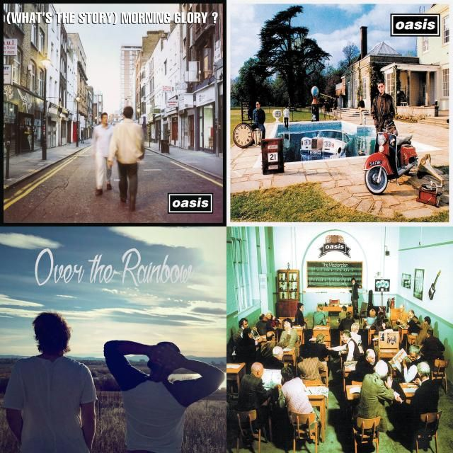 A playlist featuring Two Worlds, Oasis, Beady Eye, and others