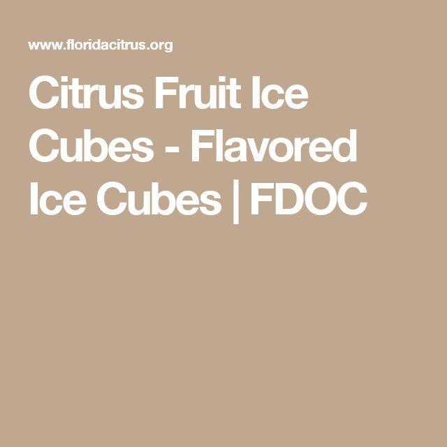 Citrus Fruit Ice Cubes - Flavored Ice Cubes | FDOC