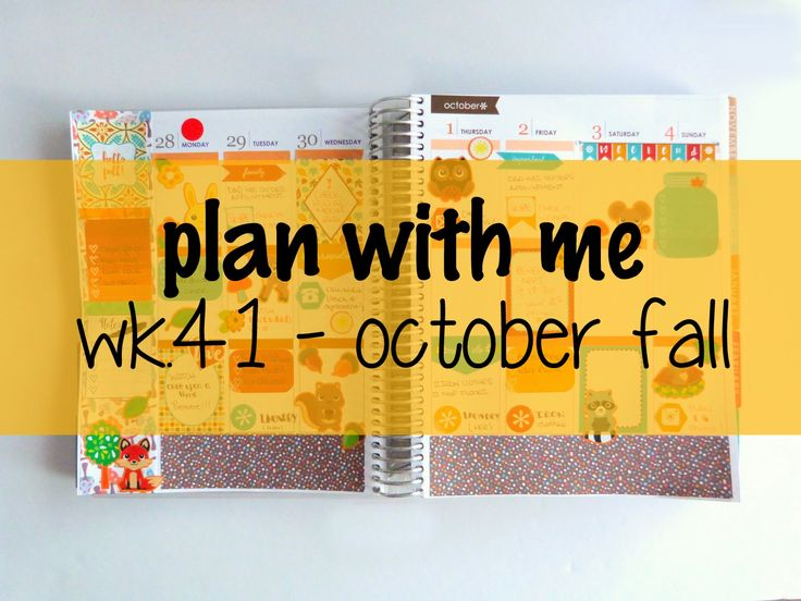 Plan With Me (ECLP) - Week 41 October Fall