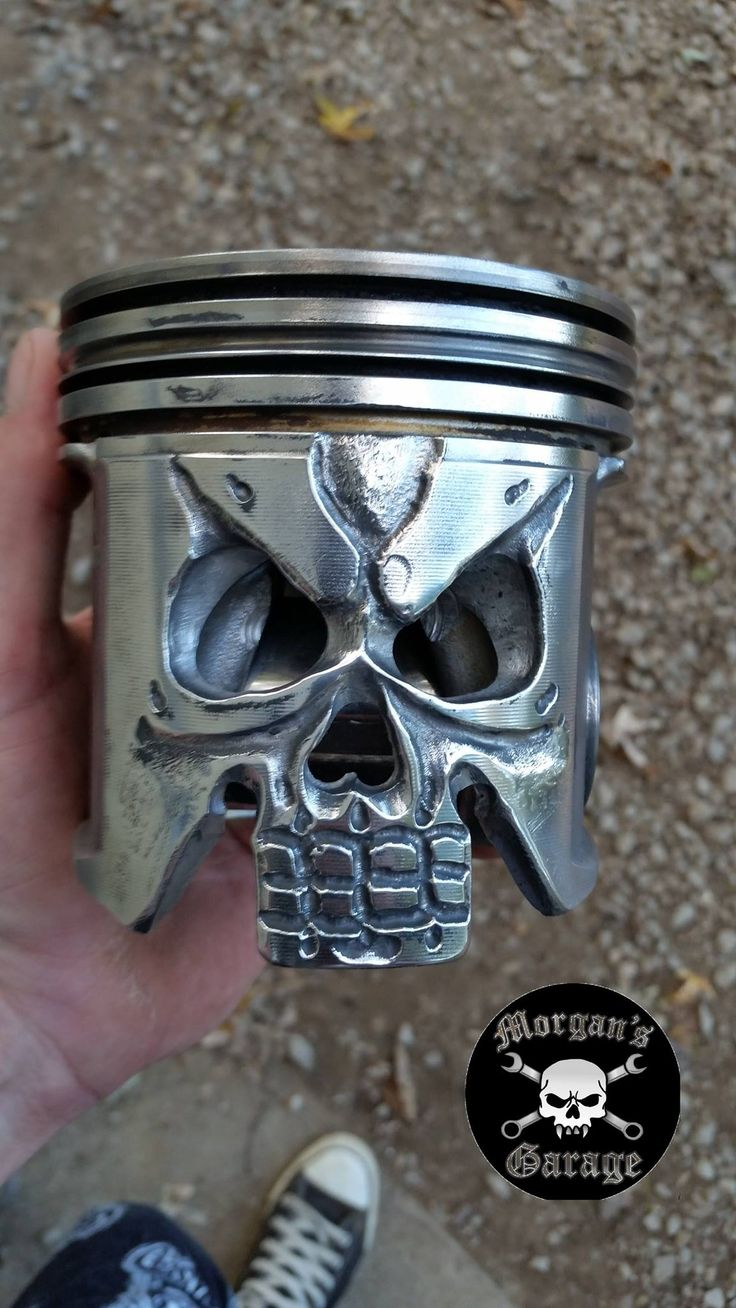 Skull Piston From Morgan S Garage Morgans Garage