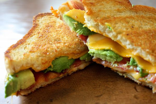 Bacon Avocado Grilled Cheese. Do this with Fontina cheese and add tomato. Yummy.